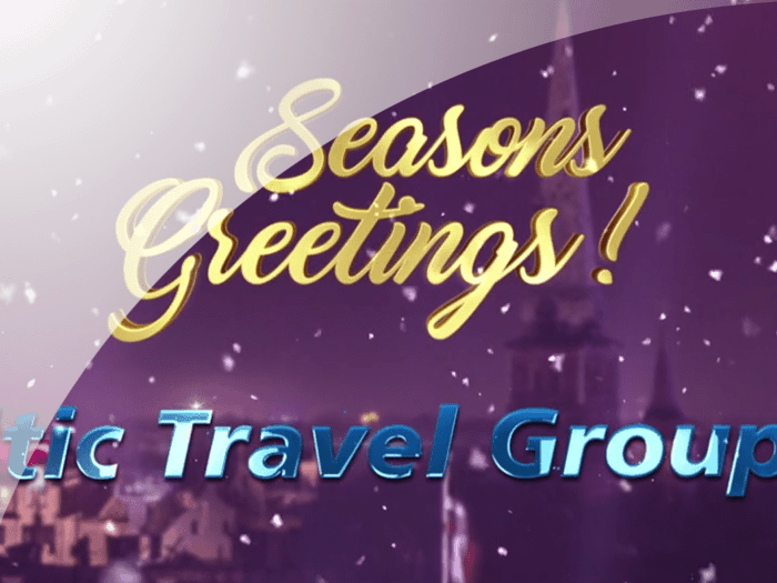 Christmas greetings from the Baltic Travel Group