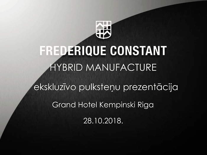 Frederique Constant - Presentation of exclusive watches