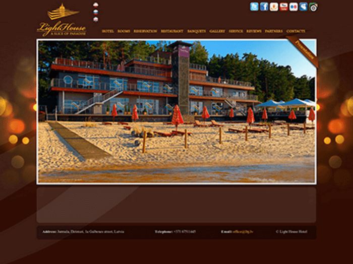 Hotel Light House Jurmala - Development of website