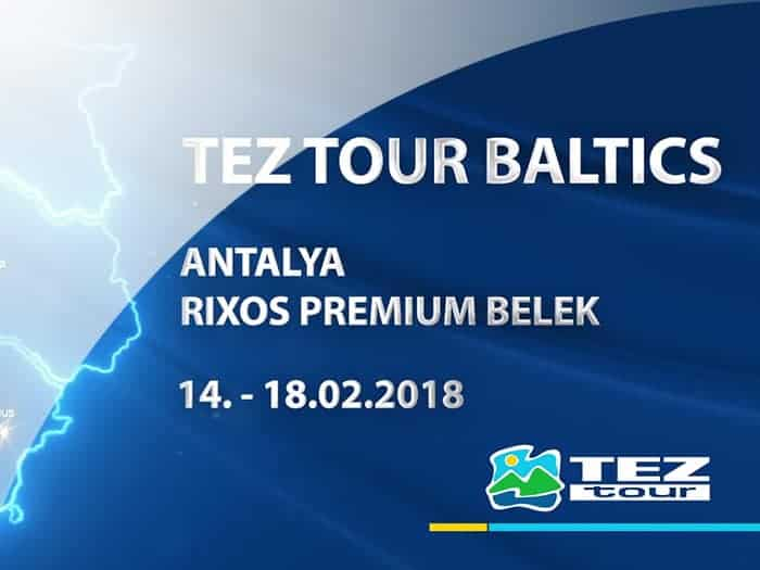 Film about the celebration of the anniversary of the tour operator Tez Tour Baltic in Turkey