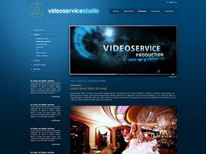 Videoservice - Development of website
