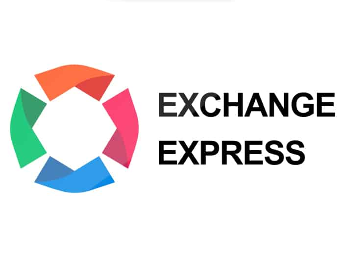 "Animated advertisement for the company ""EXCHANGE EXPRESS"" on LED screens"
