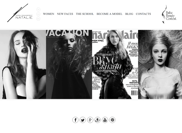 Natalie Models - Development of website