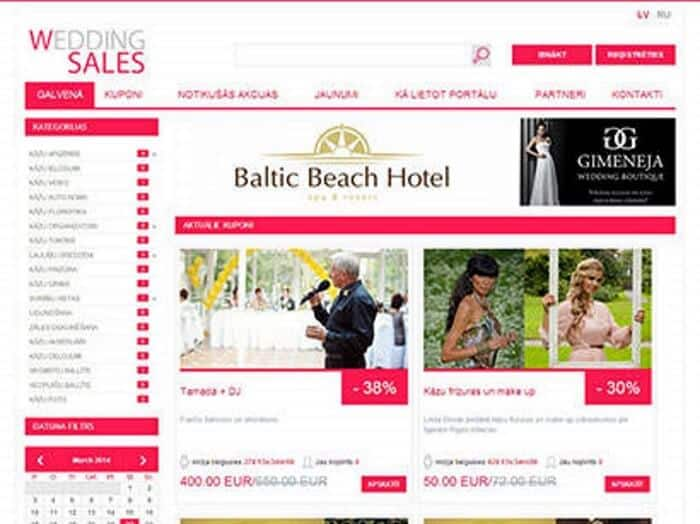 WeddingSales - Development of website