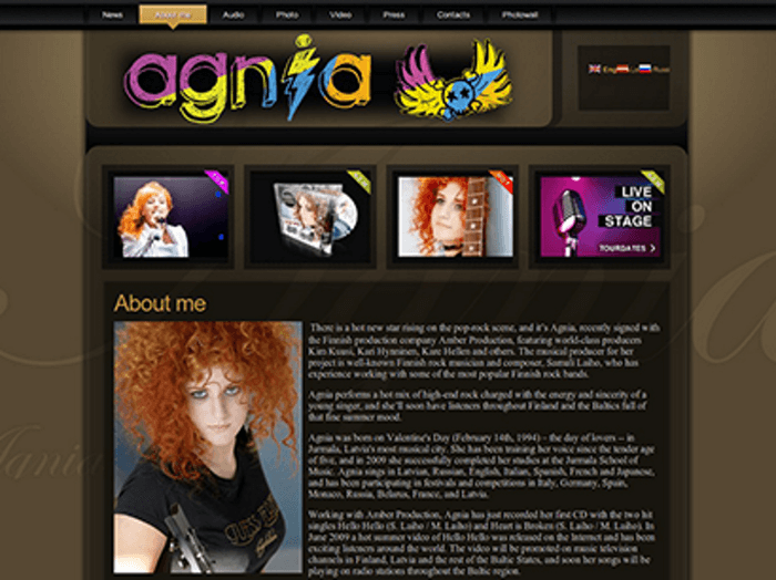Agnia - Development of website