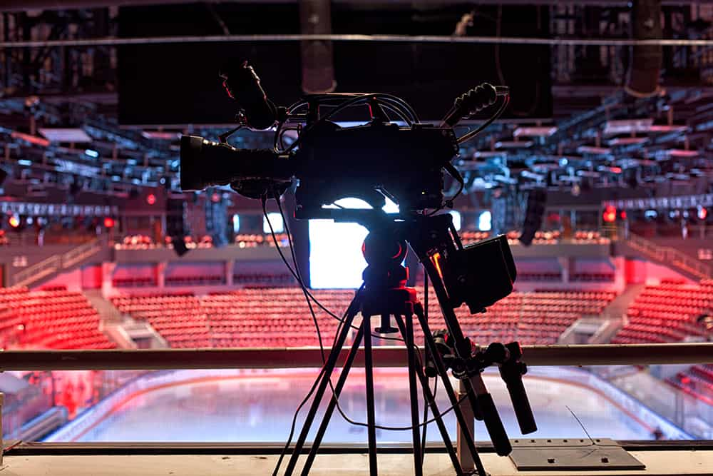 Online broadcast of sports competitions